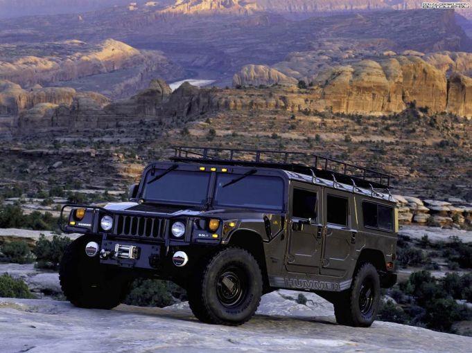 Gambar wallpaper mobil Hummer black